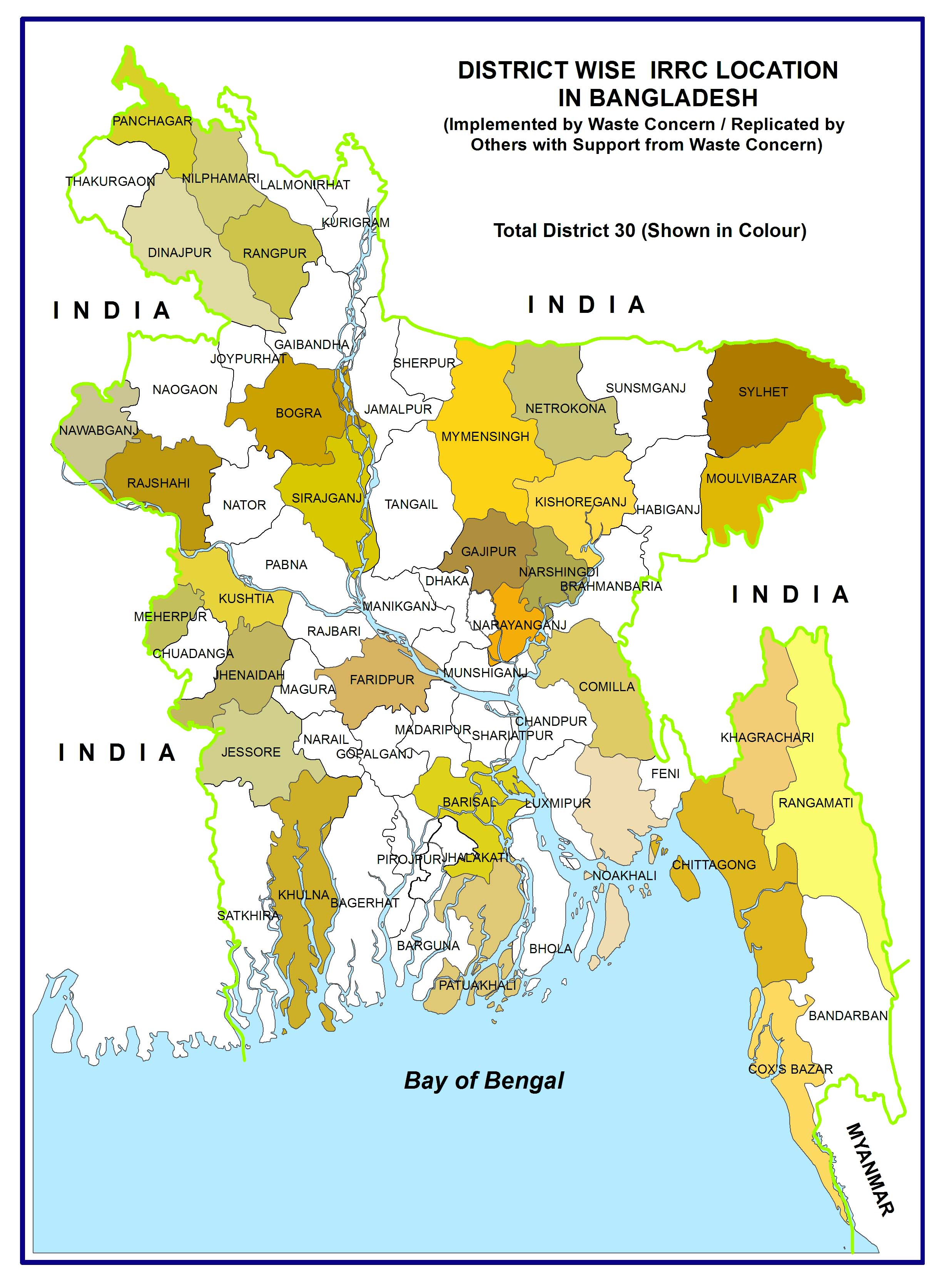 District Wise IRRC Location in Bangladesh (1)