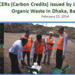 22,783 CERs (Carbon Credits) Issued by UNFCCC for Recycling of Organic Waste In Dhaka, Bangladesh