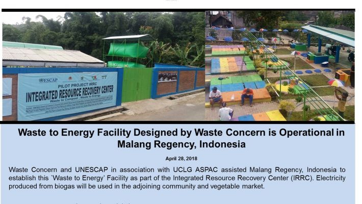 Waste to Energy Facility Designed by Waste Concern is Operational in Malang Regency, Indonesia