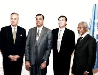 United Nation's 'Race Against Poverty Award' 2002