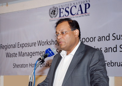 Regional Exposure Workshop on Pro-poor and Sustainable Solid Waste Management in Secondary Cities and Small Towns- Dhaka, Bangladesh
